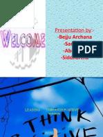 leading through positive attitude (semister1) sdias