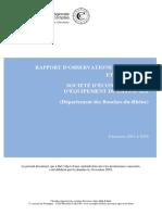 Rapport CRC sur la SEMEPA Gestion 2011 à 2016