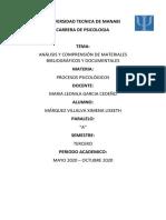 ANÁLISIS Y COMPRENSIÓN DE MATERIALES BIBLIOGRÁFICOS Y DOCUMENTALES