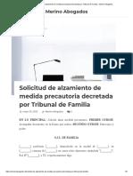 Solicitud de alzamiento de medida precautoria decretada por Tribunal de Familia - Merino Abogados.pdf