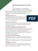Las 7 características básicas de toda democracia
