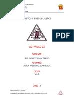 ACTIVIDAD 02, AVILA ROSARIO JEAN PAUL