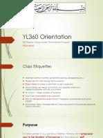 YL360 Oreientation 2016