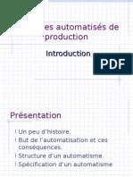 00. Introduction Aux Systèmes Automatisés De Production