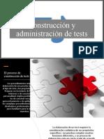 Construcción y administración de test