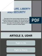 Right to LLS, Warrantless Arrest, Search and Seizure, and Right to Privacy