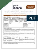 Ingeniería Económica -  Syllabus -2020-2