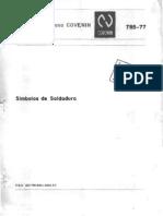 COVENIN 785-77-SIMBOLOS DE SOLDADURA