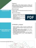 PLANEJAMENTO DE TRANSPORTE