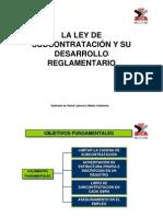 PRESENTACION LEY DE SUBCONTRATACION