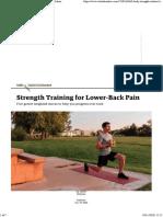 Strength Training for Lower-Back Pain  Outside Online