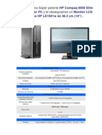 Características del HP 8000 ELITE