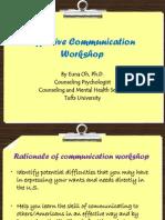Effective Communication Workshop for IC