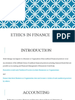 Ethics in finance
