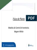 Modelos de Inventarios Wagner Whitin Escenario 3