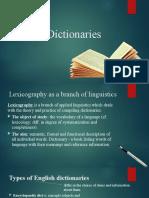 Презентация 'Types of Dictionaries'