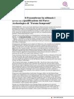"""Il Comune di Fossombrone ha ultimato la riqualificazione del Parco Archeologico  """"Forum Sempronii"""" - Laltrogiornale.it, 14 dicembre 2020"""