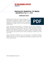 PROJECT REPORT ON MULTI SPECIALITY HOSPITAL (70 BEDS)