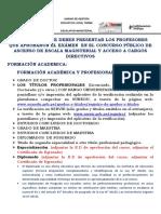 DOCUMENTOS A PRESENTAR - ESCALAFON 2018