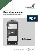 Eko-Vimar Orlański Super Wood Gasification boiler instruction manual