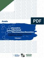 Anais do I Encontro Nacional Movimentos Docentes Vol. I