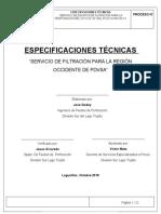 Especificaciones Tecnicas FILTRACION Horcon 1X