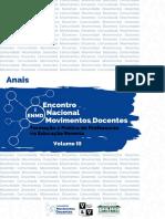 Anais Encontro Nacional Movimentos Docentes Vol.III