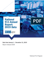 National 911 Annual Report 2019 Data