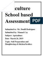 Agriculture School based Assessment