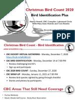 Christmas Bird Count Bird Identification