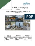 """4.0 Plan de Calidad""""Construccion Del Patio de Residuos Rev0"""