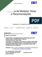 Incerteza de Medição - Dicas e recomendações