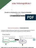 Tendencias I Tema 3º.2 Materialismo histórico 2019-20