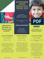 Programa actividades ludico educativas verano 2020 Educa Integral