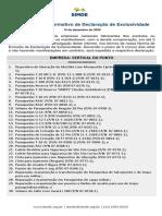 IDE 010/20 Informativo de Declaração de Exclusividade Vertical do Ponto