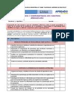 FICHA DE AUTOEVALUACION Y ME COMPROMETO 2DD