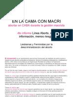 Cuarto Informe Línea Aborto Más información Menos Riesgos