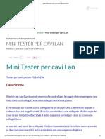 Mini tester per cavi Lan _ Doc's Experiments