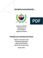 Partido Pro Hustisia & Union Actieprogramma