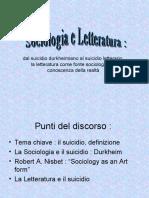 Presentazione ppt Sociologia e letteratura