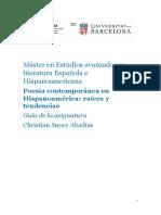 Guía docente Poesía en Hispanoamérica