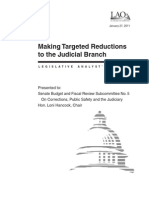 CA Legislative Analyst's Office (LAO) Judicial Branch Targeted Reductions (January, 2011)