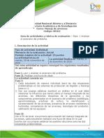 Guía de actividades y rúbrica de evaluación - Unidad 1 - Paso 1 - Analizar el escenario del problema..docx