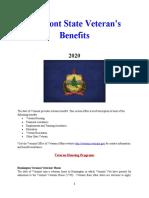 Vet State Benefits - VT 2020
