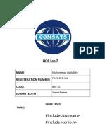 M.Abdullah FA19 BEE 110 OOP  LAb REPORT 7.pdf