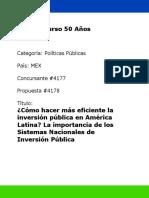COMO HACER MAS EFICIENTE LA INVERSION PUBLICA EN AMERICA LATINA