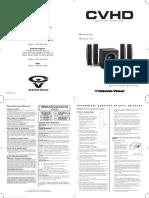 Cervin Vega CVHD Manual