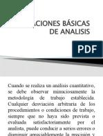OPERACIONES BÁSICAS DE ANALÍSIS