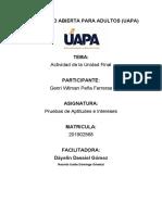 TRABAJO FINAL DE PRUEBAS DE APTITUDES E INTERESES