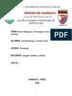BASES BIOLOGICAS Y PSICOLOGICAS DEL COMPORTAMIENTO HUMANO- monografia 1.docx